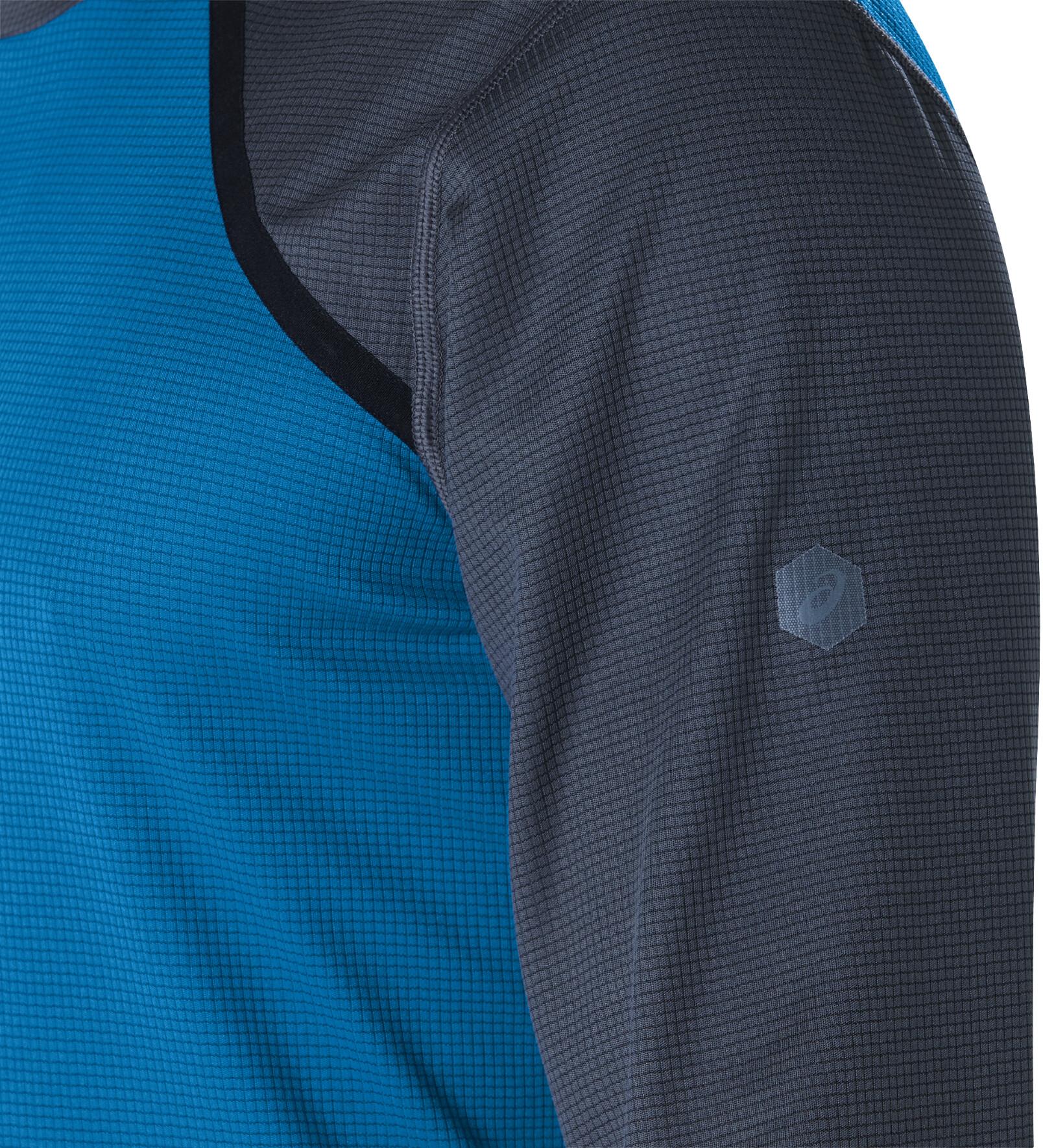 3e66a4cab asics LS Top - Camiseta manga larga running Hombre - azul